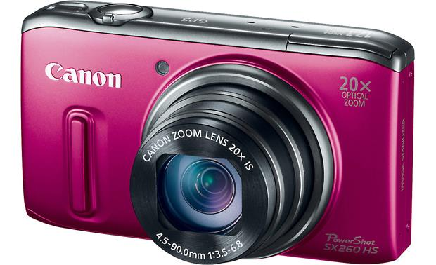 Canon PowerShot SX260 HS Front - Red