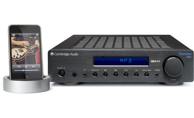 Cambridge Audio Sonata AR30 Black (shown with included iPod dock)