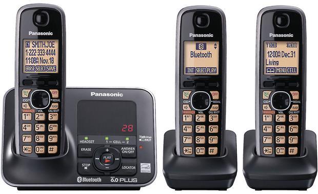 panasonic kx tg7623b expandable phone system with bluetooth link rh crutchfield com Panasonic Kx Tg7621 Base Not Lit Panasonic 6.0 Plus