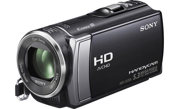 Sony Handycam® HDR-CX200 Front, 3/4 view