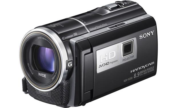 Sony HDR-PJ260V Front, 3/4 view