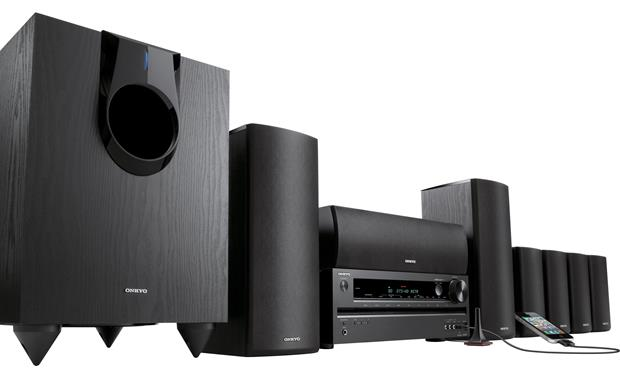 Onkyo HT-S5500 Connects to iPod® (not included)