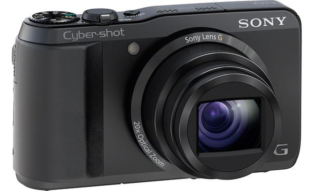 Sony Cyber-Shot® DSC-HX20V Front, 3/4 angle from left