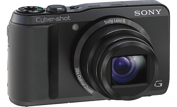 Sony Cyber-shot® DSC-HX30V Front, 3/4 view, from left