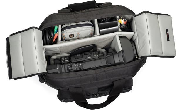 Lowepro Magnum DV 4000 AW Interior compartment, fully loaded (camcorder and accessories not included)