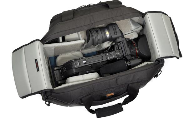 Lowepro Magnum DV 6500 AW interior compartment, with camera and accessories (not included)