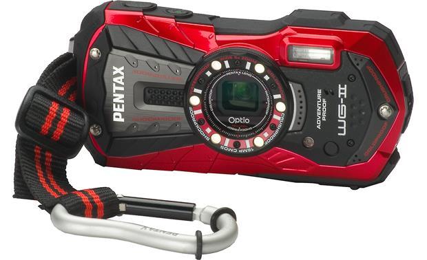 pentax optio wg 2 red tough style 16 megapixel waterproof digital rh crutchfield com