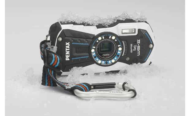 Pentax Optio WG-2 with GPS In ice