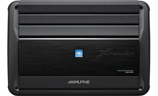 alpine mrx m110 mono subwoofer amplifier \u2014 1,100 watts rms x 1 at 2 Mobile Home Wiring Diagram alpine mrx m110 front