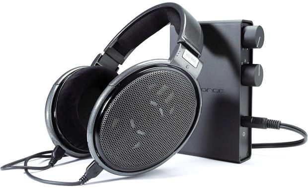 NuForce Icon HDP Pictured with Sennheiser HD 650 headphones