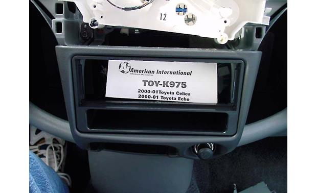 American International TOYK975 Dash Kit Kit shown installed without new radio