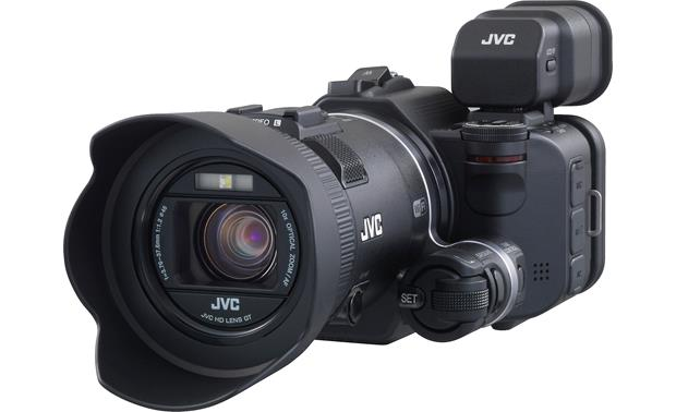 JVC GC-PX100 Front (shown with optional viewfinder, not included)
