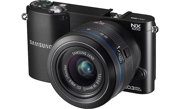 Samsung NX1000 with 2.5X Zoom Lens Front (Black)