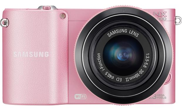 Samsung NX1000 with 2.5X Zoom Lens Front (Pink)