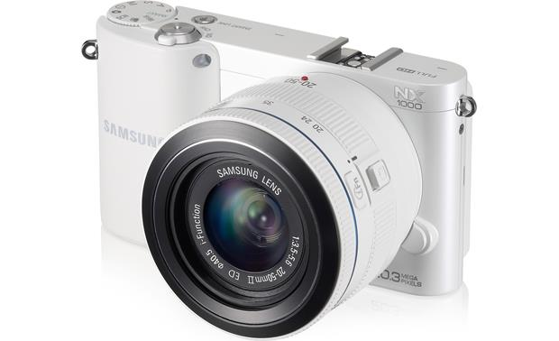Samsung NX1000 with 2.5X Zoom Lens Front (White)
