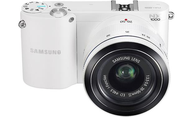 Samsung NX1000 with 2.5X Zoom Lens Front, higher angle