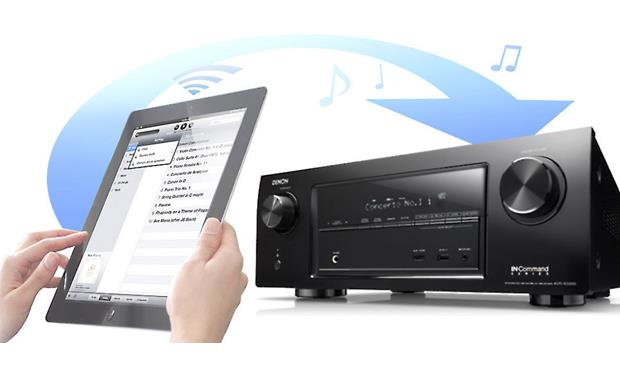 Denon AVR-X3000 IN-Command Apple AirPlay lets you stream music from an iPad or iPhone (not included)
