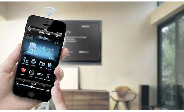 Denon AVR-X3000 IN-Command Denon's Remote app gives you easy touchscreen control of your receiver (iPhone not included)
