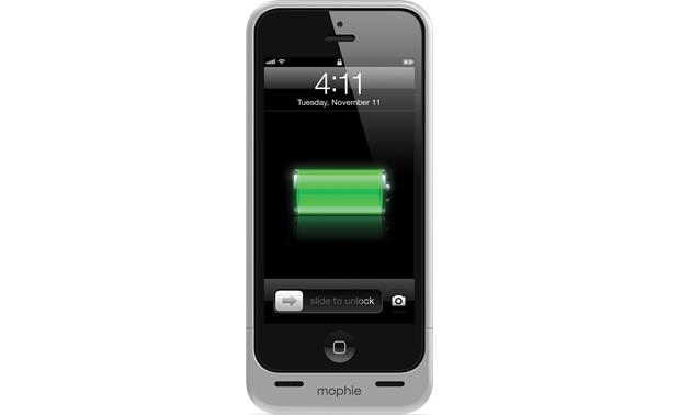 mophie juice pack helium™ Silver - front (iPhone 5 not included)