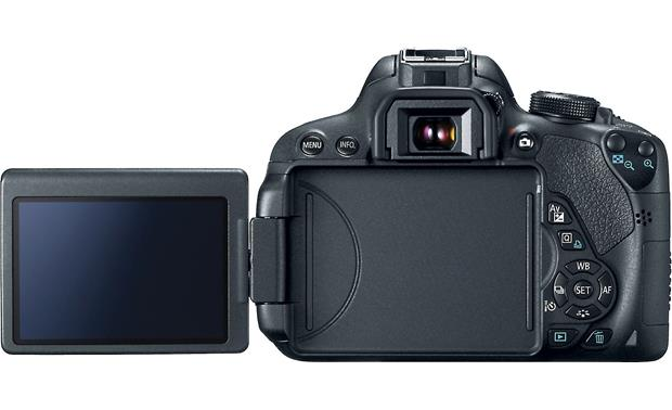 Canon EOS Rebel T5i Kit Back view, with articulating display shown
