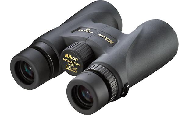 Nikon Monarch 5 8 x 42 Binoculars Back, 3/4 view, from right