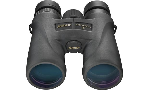 Nikon Monarch 5 10 x 42 Binoculars Front, higher angle