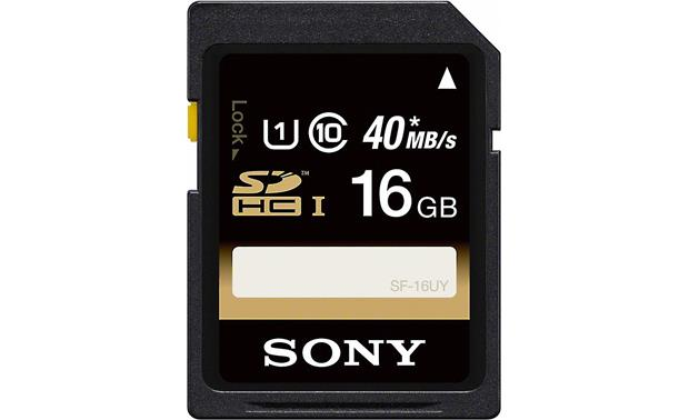 Sony SDHC UHS-1 Memory Card Front (16GB)