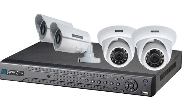 ClearView  Eagle View 4-Channel Kit DVR shown with included surveillance cameras