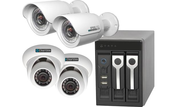 ClearView Phoenix View 4-Channel Kit Recorder with included surveillance cameras