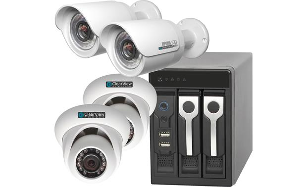 ClearView Phoenix View Expandable 8-Channel Kit Recorder with included surveillance cameras