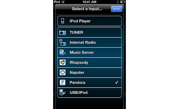 Denon DNP-720AE Choose your source with the Denon Remote app