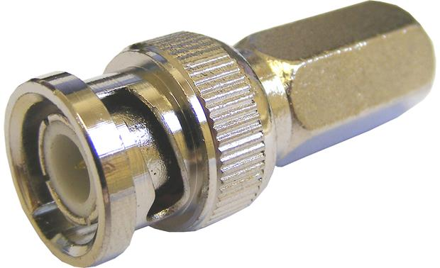 ClearView Twist-on BNC Male Connector Front