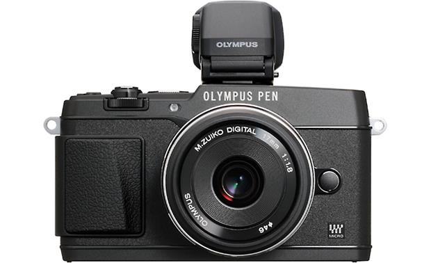 Olympus VF-4 Shown on camera (not included)