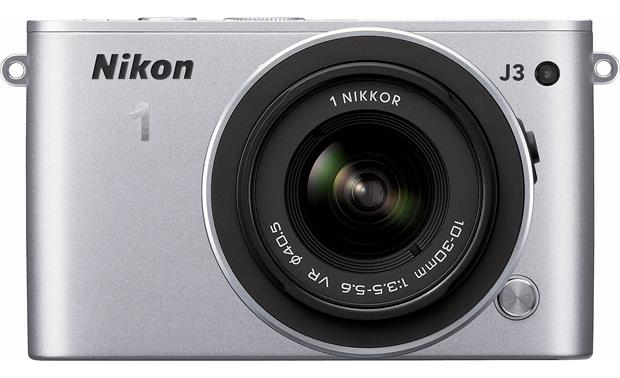 Nikon 1 J3 with Standard 3X Zoom Lens Front, straight-on