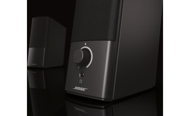 Bose® Companion® 2 Series III multimedia speaker system Volume control and headphone output jack