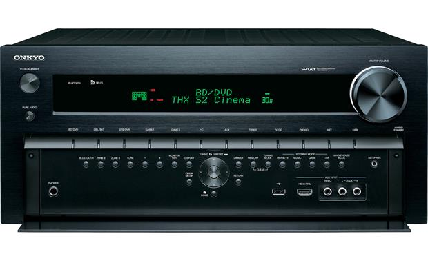 Onkyo TX-NR828 Front view with control panel open