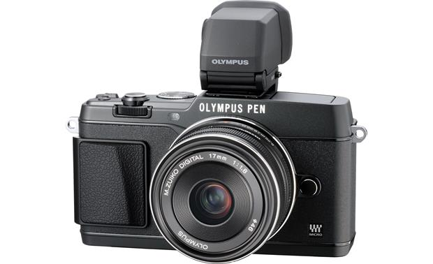 Olympus PEN E-P5 17mm Lens and Viewfinder Bundle Front (Black)