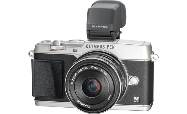 Olympus PEN E-P5 17mm Lens and Viewfinder Bundle Front (Silver)