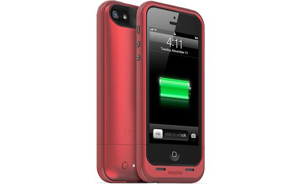 mophie juice pack plus® Red - front and back comparison (iPhone 5 not included)
