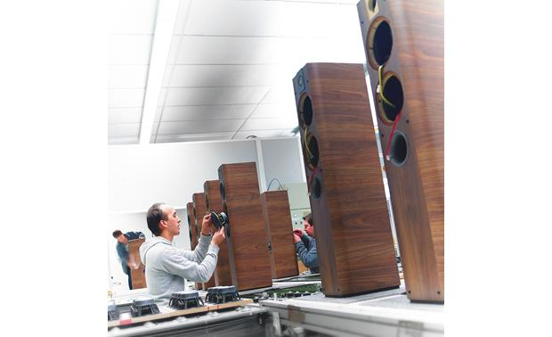Focal Chorus 714 Chorus tower speaker being hand-assembled in France