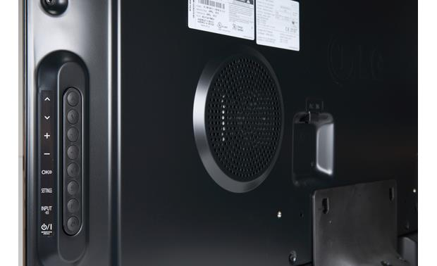 LG 55GA7900 Back - controls, and part of 2.1 speaker system