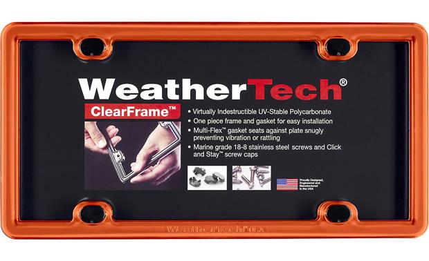 WeatherTech ClearFrame™ (Orange) License plate frame at Crutchfield.com