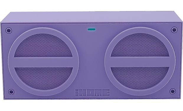 iHome iBT24 Purple - front view