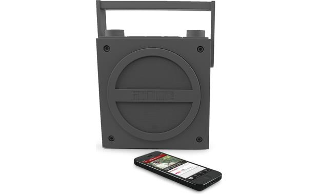 iHome iBT4 Gray with iPhone (not included)