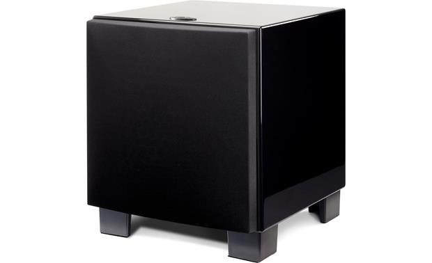 MartinLogan Dynamo™ 1500X Angled front view with grille (Front-firing configuration)