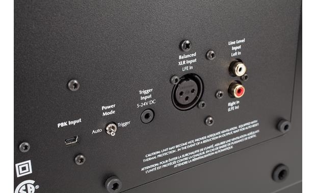 MartinLogan Dynamo™ 1500X Rear-panel controls and connections