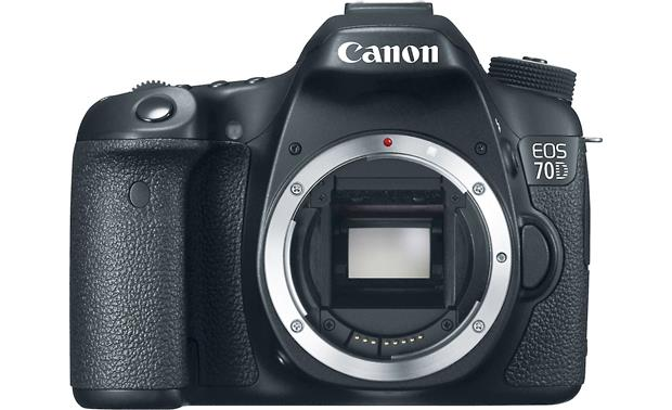 Canon EOS 70D (no lens included) Front, straight-on, (body only)