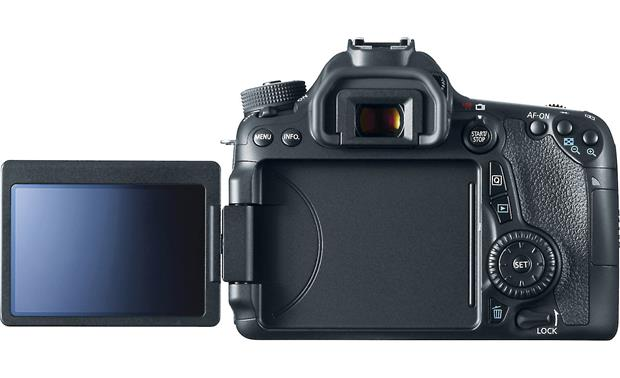Canon EOS 70D Telephoto Lens Kit Back view with LCD rotated outward