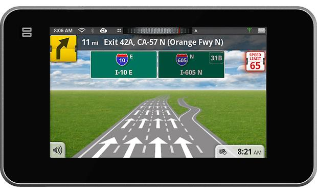 Magellan SmartGPS Lane guidance and helpful representations of interchanges, including highway signs, keep you on the right path