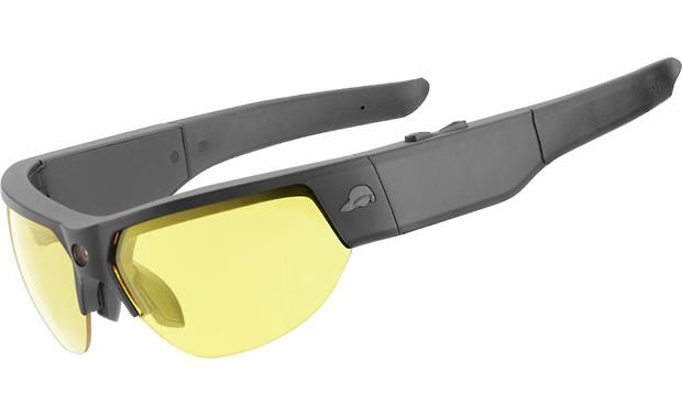 Pivothead Recon Front (Black Jet, shown with yellow lenses)
